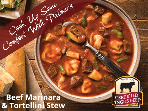 Beef Marinara and Tortellini Stew