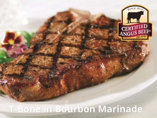 T-Bone in Bourbon Marinade