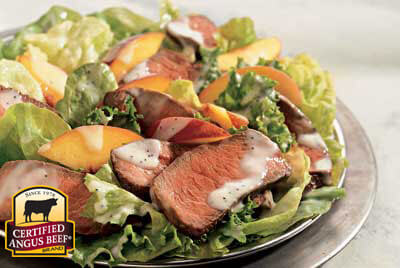Steak and Peach Salad with Lemon Dressing