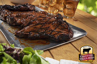 T-Bone Steaks with Barbecue Glaze