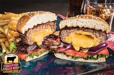 Cheesy 'Juicy Lucy' Burger